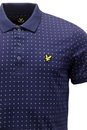 LYLE & SCOTT Retro 60s Mod Geometric Square Polo