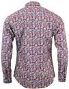 Empire MADCAP ENGLAND Paisley Beagle Collar Shirt