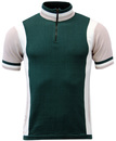 MADCAP ENGLAND RETRO 60s MOD CYCLING TOP GREEN