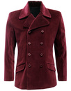 MADCAP ENGLAND VELVET BREED RETRO MOD JACKET WINE