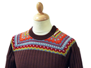 Thumbcatch MADCAP Retro Seventies Fair Isle Jumper