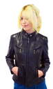 MADCAP ENGLAND WOMENS RETRO RACER JACKET LEATHER