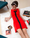 Lulu MADEMOISELLE YEYE Retro Mod 60s Bow Dress