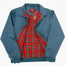 MERC Retro Mod Tartan Lined Harrington Jacket (SB)