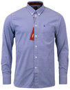 MERC GINGHAM SHIRT JAPSTER BLUE 60s MOD RETRO
