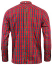 Neddy MERC Mens Retro Tartan Button Down Mod Shirt