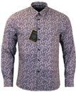 MERC TRAVIS RETRO MOD PAISLEY SHIRT NAVY