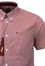 Terry MERC Sixties Mod Mens Retro Gingham Shirt R