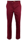 MERC RETRO MOD STA PRESS WINSTON TROUSERS WINE RED
