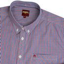 Pilgrim MERC Retro Micro Gingham Mod Check Shirt