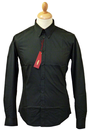 MERC RETRO MOD SIXTIES ALBIN BLACK SHIRT
