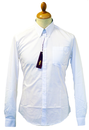 MERC RETRO MOD SIXTIES ALBIN WHITE SHIRT