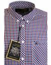 Pitman MERC Retro Mod Dogtooth Stitch Check Shirt
