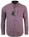 MERC ROSWELL CHECK RETRO MOD SHIRT