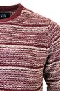 Intarsia NATIVE YOUTH Stripe Drop Stitch Jumper
