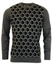BEN SHERMAN Optical Geo Pattern Retro Mod Jumper