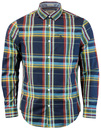 ORIGINAL PENGUIN RETRO MOD MENS CHECK SHIRT