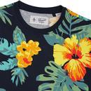 ORIGINAL PENGUIN Retro Exploded Floral Print Tee