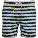 ORIGINAL PENGUIN Retro Zig-Zag Swim Shorts Dark Sapphire