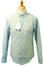 ORIGINAL PENGUIN Retro Textured Pattern Mod Shirt