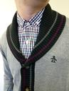 ORIGINAL PENGUIN Mens Retro Mod Shawl Collar Cardy