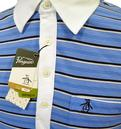 Red Hook ORIGINAL PENGUIN Mens Mod Striped Polo B