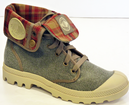 Baggy PALLADIUM Womens Retro Indie Boots (Boue)