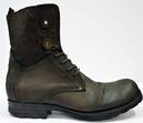 PAOLO VANDINI 'Lad' Retro Indie Military Boots DB