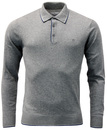 Cristo PETER WERTH 1960s Mod Tipped Knitted Polo