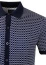 Ramsay PETER WERTH Retro Mod Grid Knitted Polo