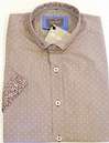 Catla PETER WERTH Retro Mod Polka Dot Stripe Shirt