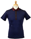 Horler PETER WERTH 60s Mod Contrast Collar Polo N
