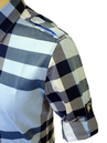 PETER WERTH Mens Retro Check Military Indie Shirt