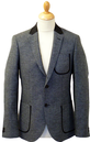 PETER WERTH Mod Microdot Herringbone Piped Blazer