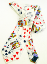 'Poker' Mens Retro 70s Playing Cards Graphic Tie
