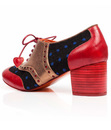 Clara Bow POETIC LICENCE Retro Polka Brogue Heels