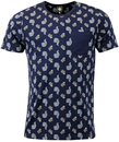 PRETTY GREEN BONHILL 60S MOD SCATTERED PAISLEY TEE