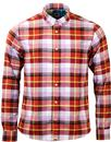 PRETTY GREEN RETRO 60S BRUSHED COTTON CHECK SHIRT
