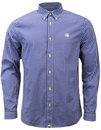 PRETTY GREEN EBSWORTH RETRO MOD GINGHAM SHIRT