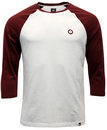 PRETTY GREEN ELHAM RETRO INDIE RAGLAN SLEEVES TEE
