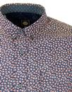 PRETTY GREEN Retro Ditsy Floral Dot Shirt