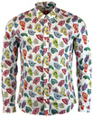 PRETTY GREEN JIMI HENDRIX RETRO FLORAL SHIRT