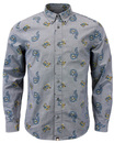 PRETTY GREEN KELBY RETRO MOD 1960S PAISLEY SHIRT