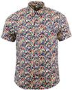 PRETTY GREEN LAVISTER RETRO 60S MOD FLORAL SHIRT