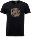 PRETTY GREEN RETRO MOD 60S PAISLEY LOGO T-SHIRT