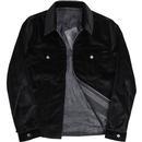 PRETTY GREEN Sixties Velvet Zip Through Jacket (B)