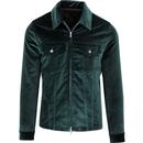 PRETTY GREEN Sixties Velvet Zip Through Jacket (G)