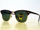 RAY-BAN RETRO CLUBMASTER SUNGLASSES RETRO MOD 70s