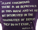 No Defeat REALM & EMPIRE Mens Retro Quote T-Shirt