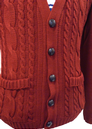 'Cable Cardy' - Mens Retro Cable Knit Cardigan (W)